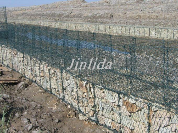 grillage hexagonal enduit de pvc gabion avec anticorrosion. Black Bedroom Furniture Sets. Home Design Ideas
