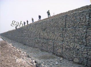 Grillage hexagonal enduit de PVC Gabion avec anticorrosion